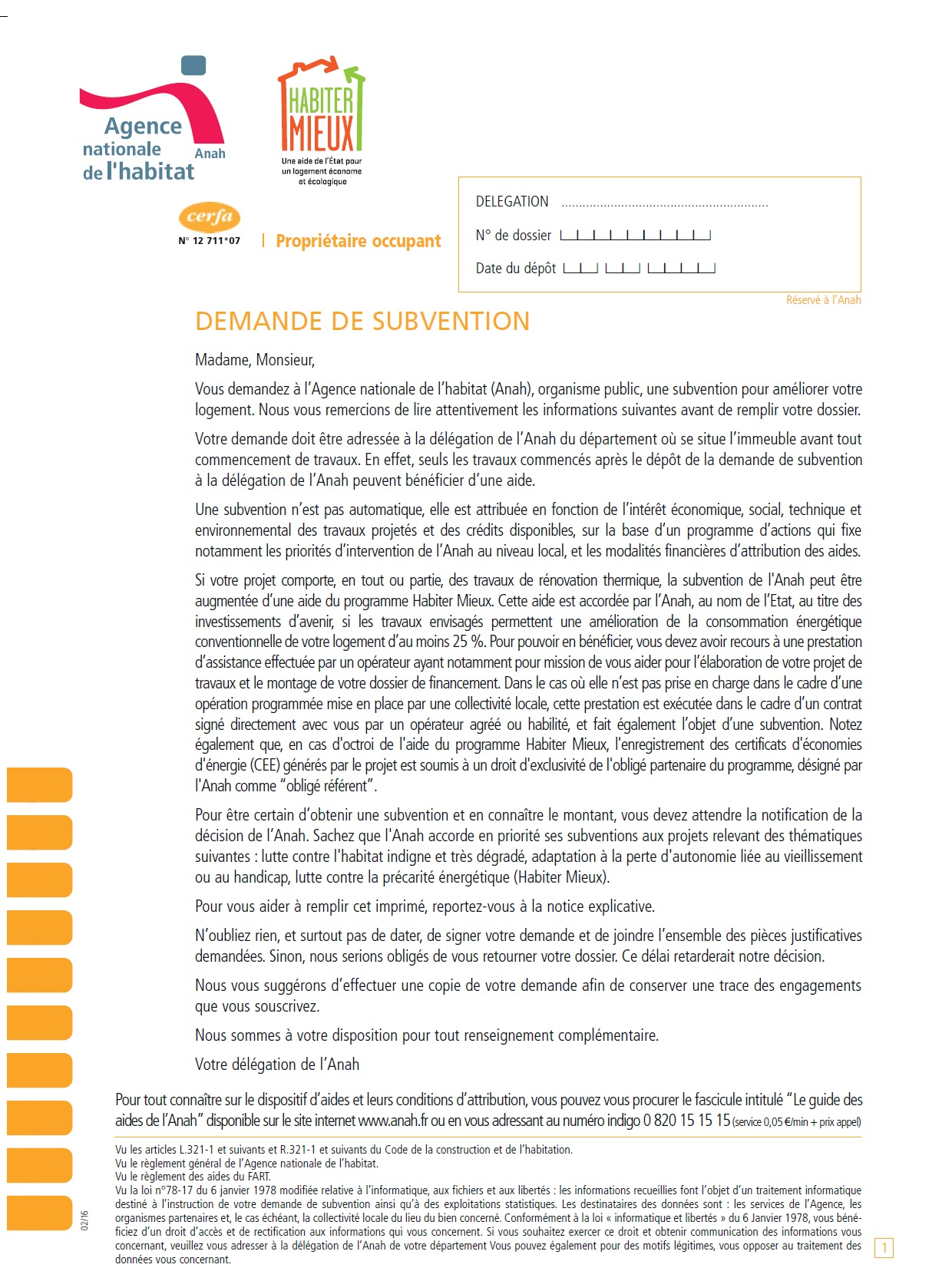 dossier subvention anah